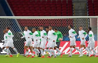 На тренировке сборной Алжира