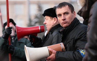 Вячеслав Смагин (на переднем плане)