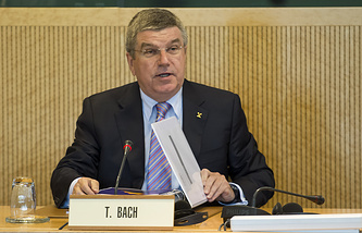 Президент МОК Томас Бах