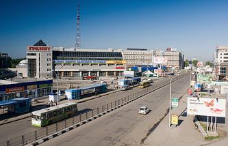 Вид города Новосибирска