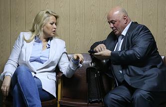 Евгения Васильева и адвокат Хасан-али Бороков