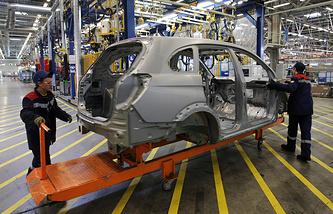 Линия сборки Opel Astra