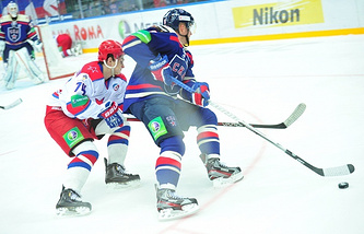 Встреча регулярного чемпионата КХЛ СКА - ЦСКА