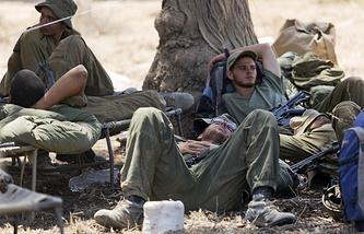 Военнослужащие Израиля на границе с сектором Газа