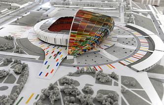 Макет стадиона в Волгограде