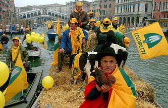Итальянские фермеры, архивное фото