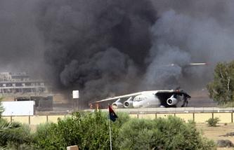 Аэропорт Триполи, июль 2014 года