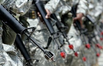 Тренировки на территории военной базы Форт Ли