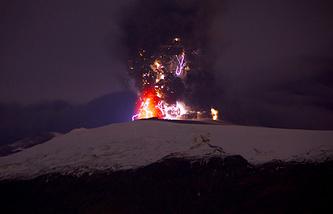 Извержение вулкана Эйяфьятлайокудль. Апрель 2010 года