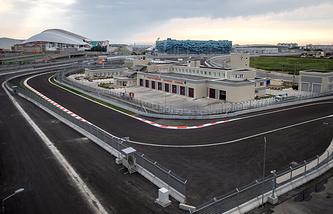 """Трасса в Сочи, которой 12 октября 2014 года впервые предстоит принять этап """"Королевских гонок"""""""