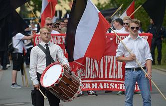 Марш неонацистов в Бад-Нендорфе
