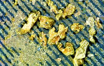 Добыча золота. Архив