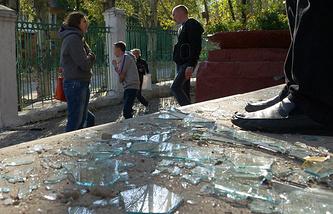 Последствия обстрелов 1 октября в Донецке