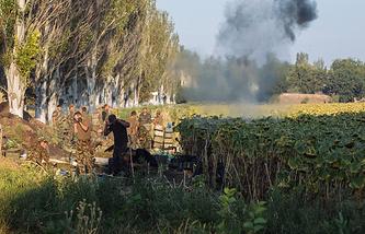 Вооруженные столкновения украинской армии с ополченцами под Иловайском. Август 2014 года