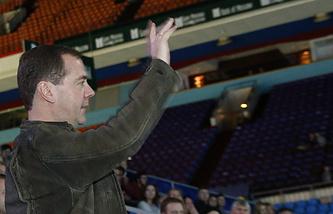 Дмитрий Медведев на Кубке Кремля