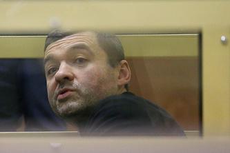 Один из лидеров ореховской преступной группировки Дмитрий Белкин во время оглашения приговора в Мособлсуде