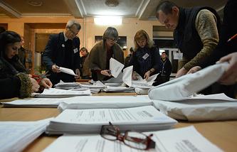 Подсчет голосов на выборах главы ДНР и депутатов Народного Совета республики
