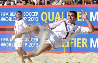 Игрок сборной России Дмитрий Шишин