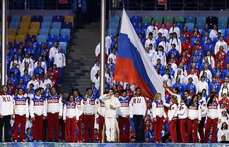 Церемония закрытия Олимпиады-2014