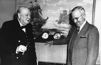 Уинстон Черчилль и президент США Гарри Трумэн. 1952 год