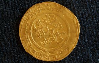 Монета времен правления династии Омейядов из экспозиции Иракского государственного музея