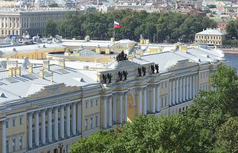 Здание Конституционного Суда РФ и Президентская библиотека имени Б. Н. Ельцина
