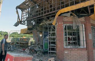 Последствия боевых действий украинской армии в Горловке, архивное фото, лето 2014 года