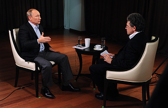 Президент России Владимир Путин дал интервью представителю немецкого телеканала ARD Хуберту Зайпелю