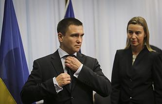 Министр иностранных дел Украины Павел Климкин  и верховный представитель Евросоюза по иностранным делам и политике безопасности Федерика Могерини