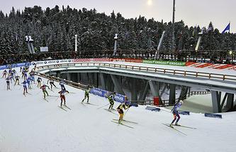 Биатлонный стадион в Ханты-Мансийске
