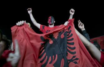 Болельщики сборной Албании