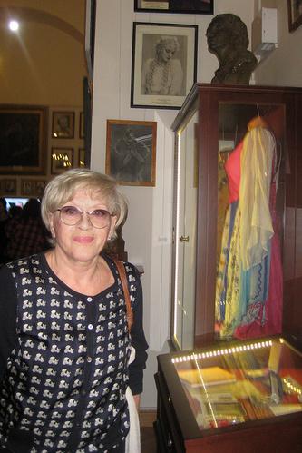 Алиса Фрейндлих  в музее балетной академии имени Агриппины Вагановой