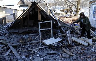 Последствия обстрела Донецка. 8 января 2015 г.