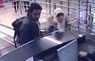 Предполагаемая сообщница террориста Амеди Кулибали с неизвестным мужчиной в аэропорту Стамбула