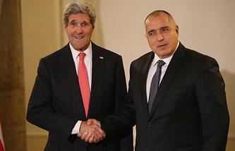 Госсекретарь США Джон Керри и  премьер-министр Болгарии Бойко Борисов