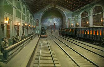 Модель внеклассной станции пассажирского вокзала в Санкт-Петербурге, конец XIX века