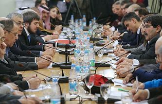 Встреча представителей сирийской оппозиции и правительства Сирии в Москве