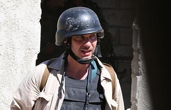 Фотокорреспондент Андрей Стенин,погибший в Донецкой области в августа 2014 года