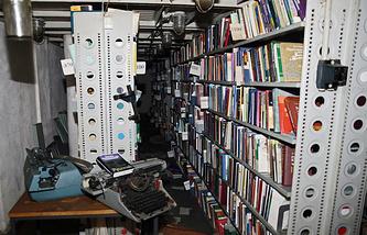 Архив фундаментальной библиотеки РАН после пожара, 4 января 2015 года