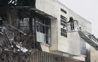 Тушение пожара в фундаментальной библиотеки института РАН, 31 января 2015 года