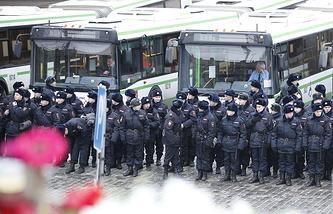 Во время шествия в Москве