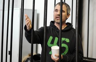 Дмитрий Лошагин в зале Октябрьского районного суда Екатеринбурга в день оглашения оправдательного приговора. 25 декабря 2014 года