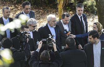 Министр иностранных дел Ирана Мохаммад Джавад Зариф в  Женеве
