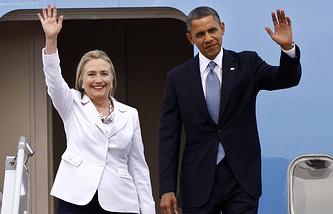 Хилари Клинтон и Барак Обама