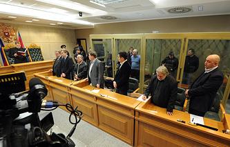 Во время оглашения приговора участникам банды Цапка, 2013 год