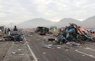 На месте происшествия в Перу