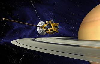 """Зонд """"Кассини"""" возле Сатурна"""