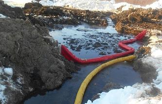 """Разлив нефти на территории нефтепромысла """"Эхаби Восточное"""""""