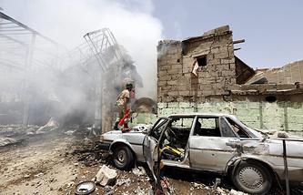 Последствия авиаударов ВВС Саудовской Аравии в Йемене