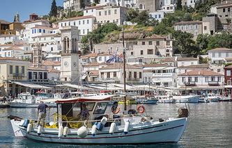 Вид на остров Эгина